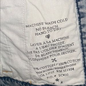 Aritzia Jackets & Coats - Aritzia Talula Jean Jacket w/Leather Sleeves
